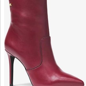 NEW Michael Kors Blaine Ankle Leather Booties 7.5M